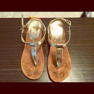 Ralph Lauren Gold Wedge Sandals